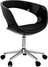 Chaise de bureau 'STRATO' noire sur