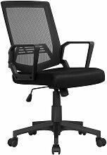 Chaise de Bureau à Roulettes Fauteuil de Bureau