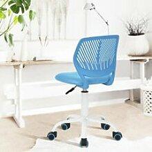 Chaise de bureau à roulettes Rose - Hauteur