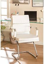 Chaise de Bureau avec Accoudoirs Mina Blanc Sklum