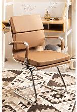 Chaise de Bureau avec Accoudoirs Mina Brun