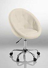 Chaise de Bureau Blanc Fauteuil de Bureau Tabouret