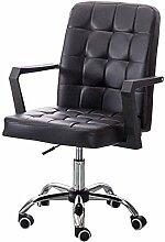 Chaise de Bureau Chaise Mobilier Faux Cuir Accueil