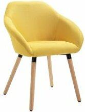 Chaise de Bureau couleur Jaune en Tissu Fauteuil