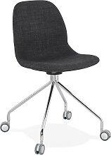Chaise de bureau design 'GLIPS' en tissu