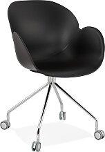 Chaise de bureau design 'JEFF' noire sur