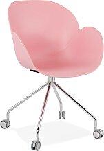 Chaise de bureau design 'JEFF' rose sur
