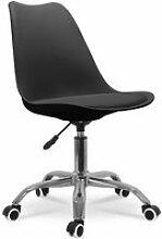 Chaise de bureau design scandinave à roulettes et