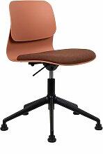 Chaise de bureau design terracottta pivotante sur