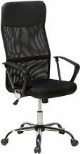Chaise de bureau en cuir noir design 1527