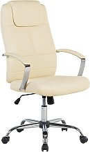 Chaise de bureau en simili-cuir beige WINNER