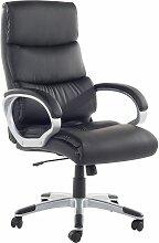 Chaise de bureau en simili-cuir noir KING