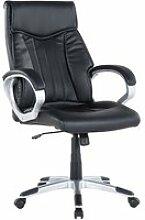 Chaise de bureau en simili-cuir noir triumph 41654