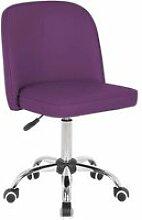 Chaise de bureau enfant design en pu mauve