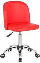 Chaise de bureau enfant design rouge augustine