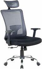 Chaise de bureau grise et noire NOBLE