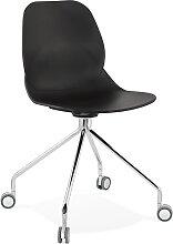 Chaise de bureau moderne 'RALLY' noire sur