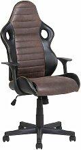 Chaise de bureau noire et marron SUPREME