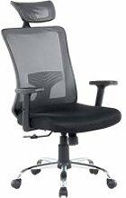 Chaise de bureau noire noble 38195