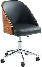 Chaise de bureau OMAHA - Simili et Contreplaqué -