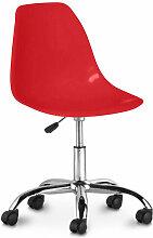 Chaise de bureau pivotante à roulettes - Deswick