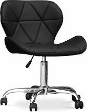 Chaise de bureau rembourrée PU - Wito Noir