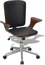 Chaise de bureau rotative en bois cintré avec