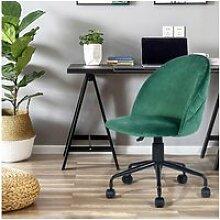 Chaise de bureau roulette vert réglable en hauteur