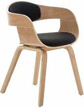 Chaise de bureau sans roulettes visiteur en tissu