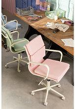 Chaise de bureau sur roues Fhöt Colors Rose Sklum