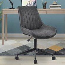 Chaise de bureau, tabouret de bar 360 ° en cuir