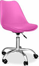 Chaise de bureau Tulip pivotante à roulettes
