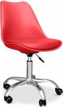 Chaise de bureau Tulip pivotante à roulettes Rouge