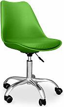 Chaise de bureau Tulip pivotante à roulettes Vert