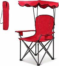 Chaise de camping avec parasol, chaise de plage