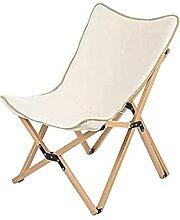 Chaise de Camping en Plein air en Toile et Bois