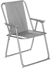 Chaise de camping pliable grecia - gris