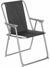 Chaise de camping pliable grecia - noir