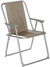 Chaise de camping pliable grecia - taupe