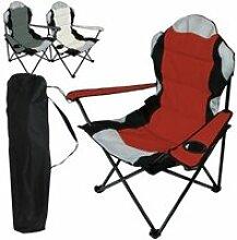 Chaise de camping pliable + sac de transport -
