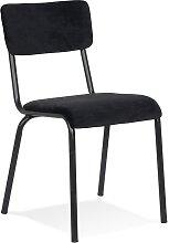Chaise de cuisine 'CLUSAZ' en velours noir