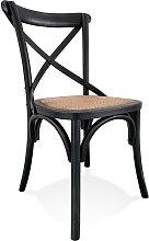 Chaise de cuisine rétro 'CHABLY' en bois