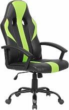 Chaise de gamer en simili-cuir noir et vert SUCCESS