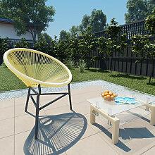 Chaise de jardin Acapulco Resine tressee Beige