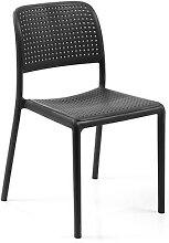 Chaise de jardin anthracite BALSA (lot de 4)