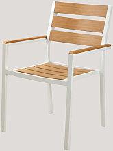 Chaise de jardin avec accoudoirs Saura Aluminium/