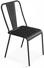 Chaise de jardin bistrot en métal Dieppe -