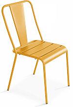 Chaise de jardin bistrot en métal, Dieppe