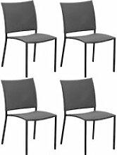 Chaise de jardin bonbon pour enfant (lot de 4) gris