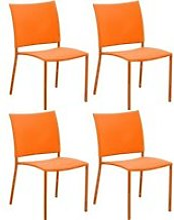 Chaise de jardin bonbon pour enfant (lot de 4)